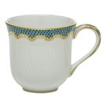 Herend Fish Scale Turquoise Border Mug