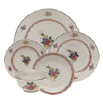 Herend Chinese Bouquet Multicolor Five Piece Place Setting