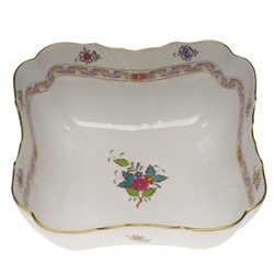 Herend Chinese Bouquet Multicolor Square Salad Bowl
