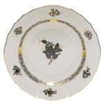 Herend Chinese Bouquet Black Dessert Plate