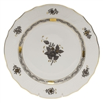 Herend Chinese Bouquet Black Dinner Plate