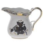 Herend Chinese Bouquet Black Creamer
