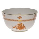 Herend Chinese Bouquet Rust Round Serving Bowl