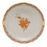 Herend Chinese Bouquet Rust Cream Soup Saucer