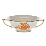 Herend Chinese Bouquet Rust Cream Soup Cup