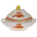 Herend Chinese Bouquet Rust Mini Tureen With Lemon