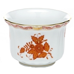 Herend Chinese Bouquet Rust Mini Cachepot