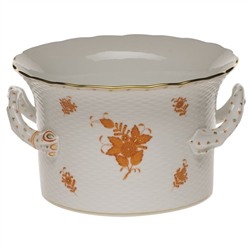 Herend Chinese Bouquet Rust Cachepot With Handles