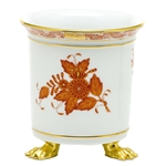 Herend Chinese Bouquet Rust Mini Cachepot with Feet