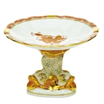 Herend Shell With Dolphin Stand Chinese Bouquet Rust