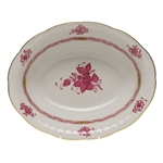 Herend Chinese Bouquet Raspberry Oval Vegetable Dish