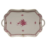 Herend Chinese Bouquet Raspberry Rectangular Tray