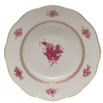 Herend Chinese Bouquet Raspberry Rim Soup Plate