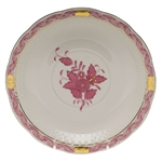 Herend Chinese Bouquet Raspberry Cream Soup Saucer