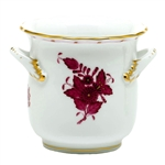 Herend Chinese Bouquet Raspberry Mini Handle Cachepot