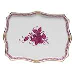 Herend Small Tray Chinese Bouquet Raspberry