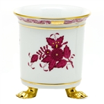 Herend Chinese Bouquet Raspberry Mini Feet Cachepot