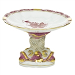 Herend Shell With Dolphin Stand Chinese Bouquet Raspberry