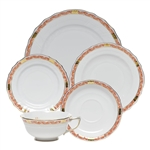 Herend Chinese Bouquet Garland Rust Five Piece Place Setting
