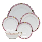 Herend Chinese Bouquet Garland Raspberry Five Piece Place Setting