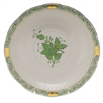 Herend Chinese Bouquet Green Cream Soup Saucer