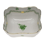Herend Chinese Bouquet Green Square Salad Bowl