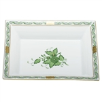 Herend China Jewelry Tray Chinese Bouquet Green