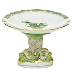 Herend Shell With Dolphin Stand Chinese Bouquet Green