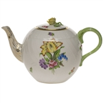 Herend Printemps Tea Pot With Rose