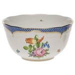 Herend Printemps Blue Round Serving Bowl