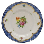 Herend Printemps Blue Border Bread & Butter Plate Motif #1