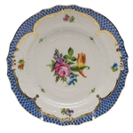 Herend Printemps Blue Border Bread & Butter Plate Motif #2