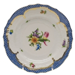 Herend Printemps Blue Border Bread & Butter Plate Motif #3