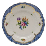 Herend Printemps Blue Border Bread & Butter Plate Motif #4