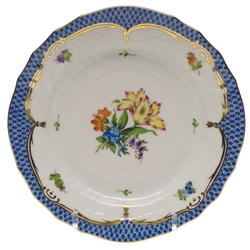 Herend Printemps Blue Border Bread & Butter Plate Motif #5