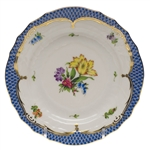 Herend Printemps Blue Border Bread & Butter Plate Motif #6