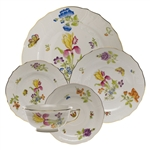 Herend Antique Iris Five Piece Place Setting Motif 2