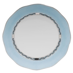 Herend Chinese Bouquet Turquoise and Platinum Charger