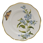 Herend American Wildflowers Blue Wood Aster Salad Plate