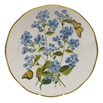 Herend American Wildflowers Blue Wood Aster Dinner Plate