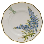 Herend American Wildflowers Texas Bluebonnet Salad Plate