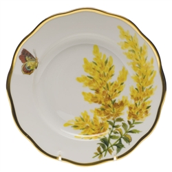 Herend American Wildflowers Tall Goldenrod Salad Plate