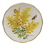 Herend American Wildflowers Tall Goldenrod Dinner Plate