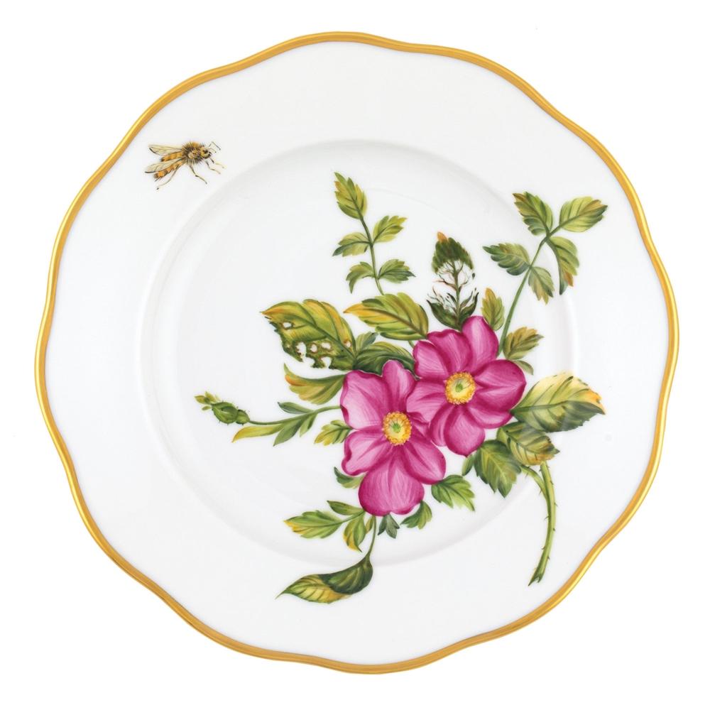 Herend American Wildflowers Prairie Rose Salad Plate At