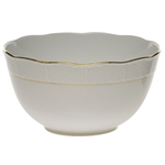 Herend Golden Edge Round Serving Bowl