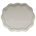 Herend Golden Edge Scallop Tray