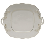 Herend Golden Edge Square Cake Plate