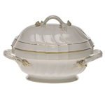 Herend Golden Edge Tureen With Branch Handles