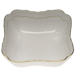 Herend Golden Edge Square Salad Bowl