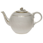 Herend Golden Edge Tea Pot With Rose